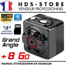SQ8 CAMÉRA CUBE FULL HD 1080P + MICRO SD 8 GO INFRAROUGE DÉTECTION SORTIE VIDÉO