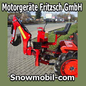 Bagger HB15S Heckbagger Traktor Schlepper Dreipunktaufhängung Seitenverschub