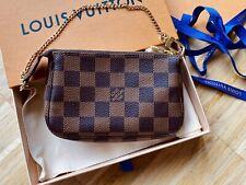 Louis Vuitton Pochette Mini Damier Ebene Canvas Neu Box Handtasche 100% Original