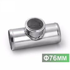"""76mm 3"""" Turbo Aluminum Flange T Pipe For GD-RS FV RZ BOV Blow Off Valve Adapter"""
