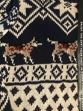 Woolrich-medium-husky/dog Sweater-hand Knit-vintage -excellent Condition