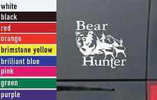Bear Hunter Hunting Vinyl Sticker Decal Car-Truck Laptop-Netbook 1463