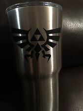 Zelda Triforce Vinyl Decal perfect for your YETI in FLAT BLACK