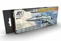 AK Interactive U.S. Modern Aircraft Colours Vol.2 Acrylic Paint Set For Models