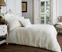 NEW Cream Jacquard Damask Luxury Bedding Duvet Set All Sizes