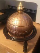 Avon Bottle Man's World Tribute Windjammer After Shave World Gold Globe W/Stand