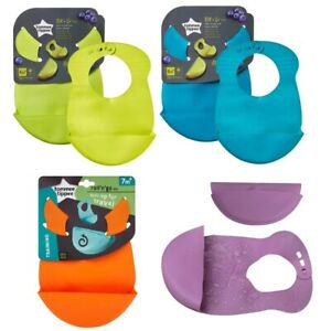 Tommee Tippee Roll n' Go Crumb Catcher Baby Weaning Bib Soft Foldable BPA Free