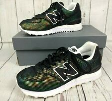 Ladies New Balance 574 Perf Metallic Petrol Trainers UK 5 EU 38 Limited Edition