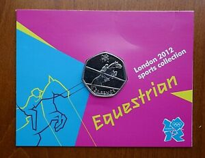 2011 London Sports Collection 50 Pence - Equestrian