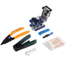 FTTH Splicing Fiber Optic Stripping Tool Kit Set With Fiber Cleaver FC-6S