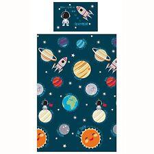Solar System Junior copripiumino nuovo spazio ragazzi biancheria da letto blu