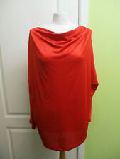 Was per Una Size 22 Ladies Red Slinky Cowl Neck Top 3/4 Sleeves