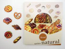 Japanese bakery sticker flakes! Kawaii bread, pineapple bun, croissants, pretzel