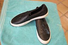 030a2786fa8 Zara Man Black Leather Skull Imprint Casual Slip On Loafer Shoe Sneaker  11.5 (b4