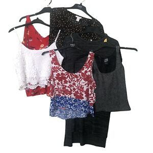 8x Women Tops Bundle UK 10 Blouse Cami Tunic River Island H&M Topshop New Look