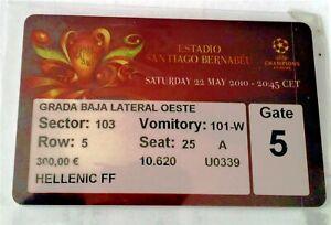 Biglietto Ticket Finale Uefa Champions 2009/10 Inter Vs Bayern Monaco Munchen