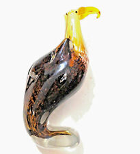 Murano Art Glass Bird Eagle Statue Figurine Sculpture 9""