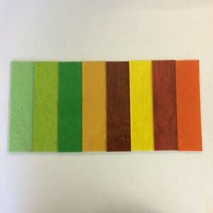 Stained Glass Tools/ Supplies Cathedral glass selection of 16 pieces x0
