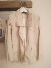 Loro Piana Men's Storm Systems White/Cream Coat Jacket 44 Small Medium