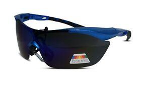 Polarised Sunglasses Wrap Around Cycling 100% UV400 Sun Readers Glasses Mirror