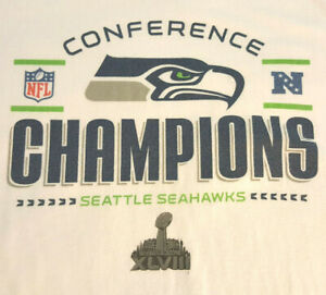 Seattle Seahawks Ladies T Shirt sz Large EUC NFL Football White Womens INV446
