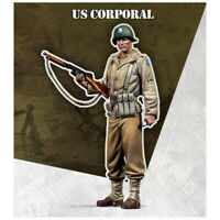 1/35 Unpainted WW2 US Corporal Soldier Resin Kits GK Unassembled