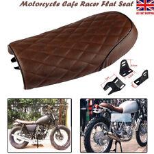 Universal Motorcycle Cafe Racer Seat Flat Brat Saddle For Yamaha Honda Suzuki