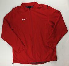 New Nike Dry Jacket Full Zip Mesh Liner Red Training Men's Large Dri-Fit 897025