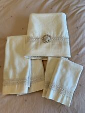 Avanti Braided Medallion Ivory Towels 5 Piece Set Pre-owned