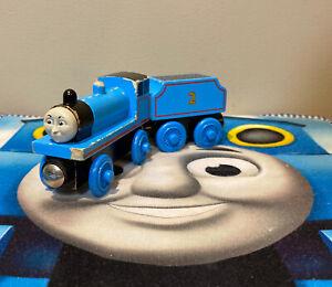 Thomas & Friends Wooden Railway Train Tank Engine Edward w/ Flat Tender (1998)