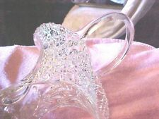 "VINTAGE, Exquisite Tall Crystal Clear Pressed Glass Basket NICE  13""   62"
