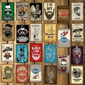 Barber Shop Metal Tin Sign Vintage Wall Decor For Home Bar Hotel Souvenirs Gift