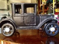 Cast Iron Car Model T Great Condition -approx 8 Inches Long
