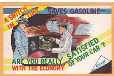 Advertising Postcard -Gas Mileage Economy Glenn Electrical Lafayette Indiana  #2