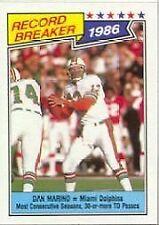 Topps Autographed Dan Marino Original Football Trading Cards