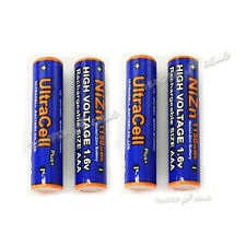 4 pcs Rechargeable NiZn AAA 3A 1.6V 1150mWh Battery AM4 UM4 KR03 UltraCell Blue