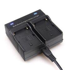 Dual Channel Battery Charger For SONY NP-FM500H NP-FM50/FM70/FM90/FM55H/QM91D