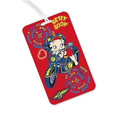 Betty Boop Luggage Tag 3D Lenticular - Red Motorcycle Flip - #BB-205-LT#