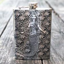 8oz Mermaid Flask L1