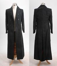 Dr. Brown Long Trench Coat Suit BLACK Halloween Cosplay Costume Custom Made