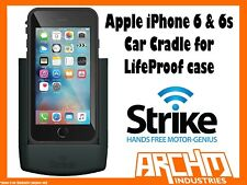 STRIKE ALPHA APPLE IPHONE 6 & 6s CAR CRADLE FOR LIFEPROOF CASE - FAST CHARGER