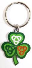 Irish Shamrock & Celtic Knot Quality Metal KEYRING / Key Chain - Ireland