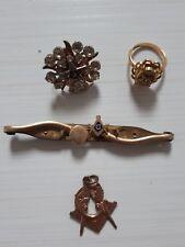 Masón joyas artículos 10 Quilates Oro Lleno De Caña Insignia pin de anillo de la estrella oriental