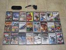 Sony PSP Schwarz mit 10 Gratis Spiele + Zubehörpaket (3004)