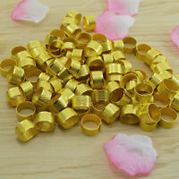 10x Gold Adjustable Size Ring Stitch Finger Thimble Sewing DIY Craft Tools E&F
