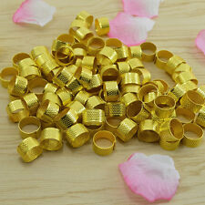 Great 10x Gold Size Ring Stitch Finger Thimble Sewing DIY Craft Tool 1.8cm MD