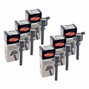 Set of 6 Delphi Ignition Coils GN10192 For Ford Mercury Mazda 1999-2011