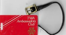 TWA Airlines Ambassadors Club Plastic Baggage Tag