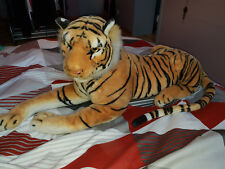 Grande peluche tigre rayé