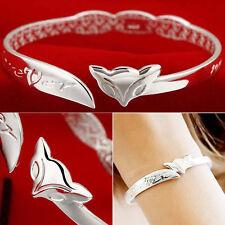 Hot Fashion Women Sliver Plated Bangle Elegant Bracelet Jewelry Gift-41